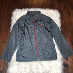 new alabama gray windbreaker zip up jacket XL